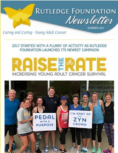Cover of the Rutledge Foundation December 2017 Newsletter